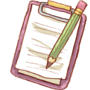 pencil and clipboard