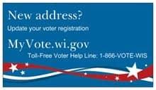 My Vote Wisconsin fridge magnet
